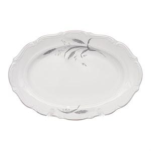 Блюдо овальное 33 см Repast Серебряные колосья - фото 119007