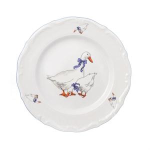 Набор плоских тарелок Repast 25 см Гуси (6 шт) - фото 119024