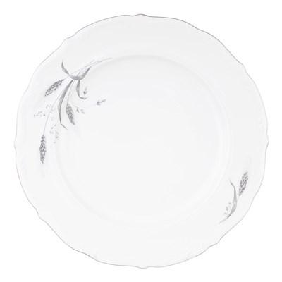 Блюдо круглое 32 см Repast Серебряные колосья - фото 57849