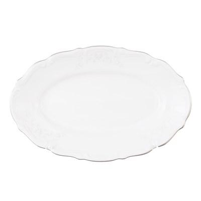 Блюдо овальное  плоское 22 см Repast Свадебный узор - фото 59081