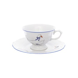 Набор чайных пар Repast Гуси классическая чашка (6 пар) 200 мл