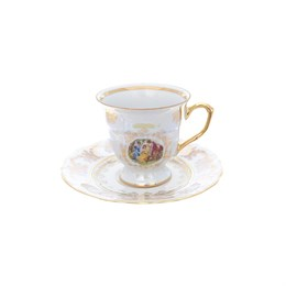 Набор кофейных пар Repast Мадонна перламутр Мария-тереза (6 пар)