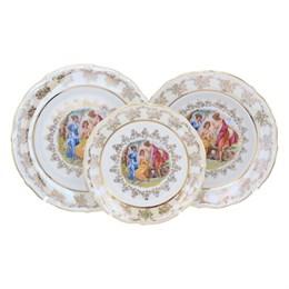 Набор тарелок Repast Мадонна перламутр Мария-тереза 18 предметов