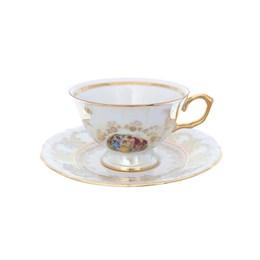 Набор чайных пар Repast Мадонна перламутр Мария-тереза классическая чашка (6 пар) 200 мл