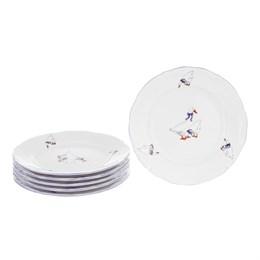 Набор плоских тарелок Repast 19 см Гуси (6 шт)