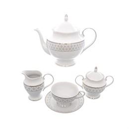 Чайный набор Repast Серебряная сетка (15 предметов на 6 персон)