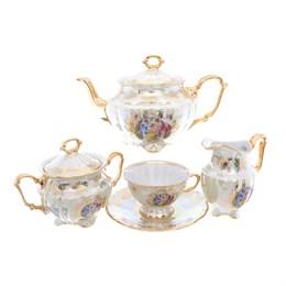 Чайный сервиз Repast Мадонна перламутр Мария-тереза 15 предметов на 6 персон