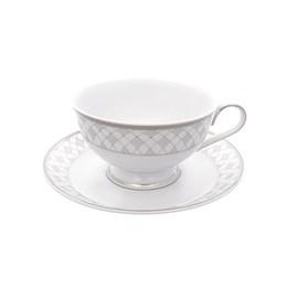Набор чайных пар Repast Серебряная сетка 200 мл (6 пар)